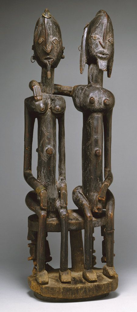 Seated Couple, 18th–early 19th century. Mali, southern cliff. Dogon peoples. The Metropolitan Museum of Art, New York. Gift of Lester Wunderman, 1977 (1977.394.15)
