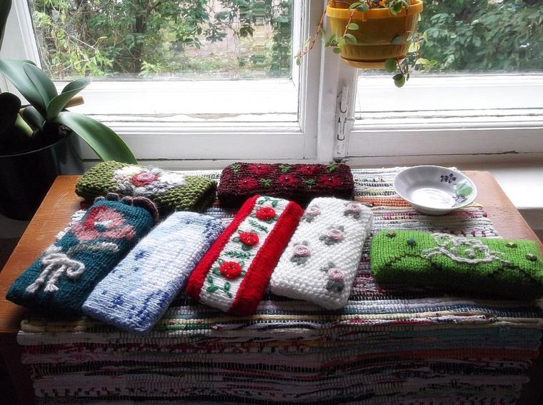очёчники, бесплатная доставка, аксессуары с вышивкой, handmade