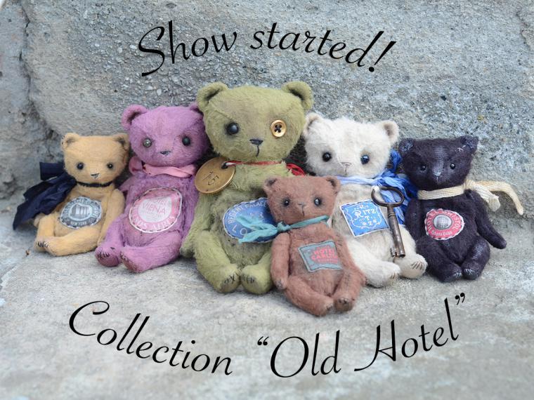 abcbears, мишки тедди, коллекция, винтаж, миниатюра, abcbears своими руками, коллекция ручной работы