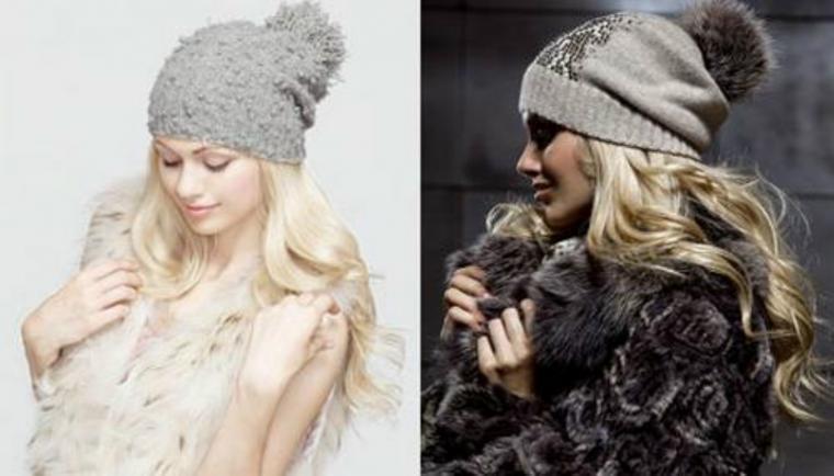 вязаная шапка и шуба безвкусица или новый тренд ярмарка мастеров