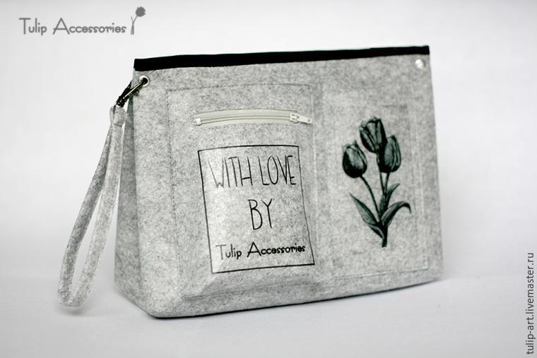 bbcc1e6205a8 Как сделать из фетра загадочный «тинтамар», или Шьем органайзер в сумку –  мастер-класс для начинающих и профессионалов