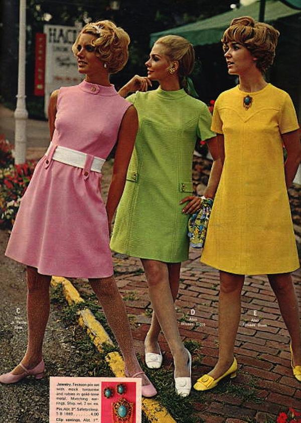 Фасоны платьев 60-70 годов