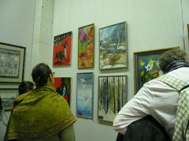 выставка, выставка 2014, панно, палантин, шелк