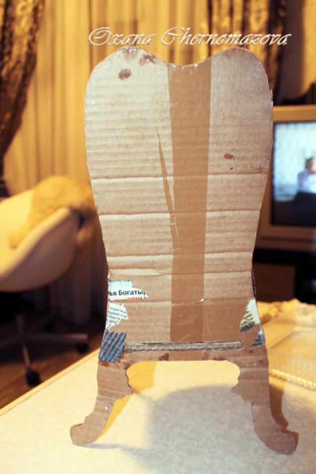 Как сделать трон из коробок