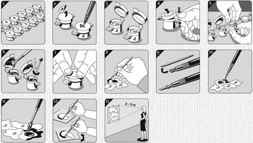Раскраска картин по номерам советы