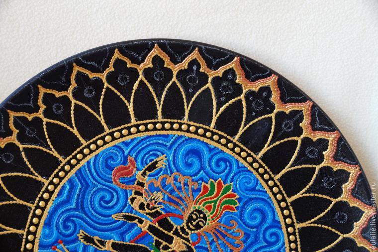 Мастер-класс по точечной росписи: тарелка-панно «танцующий Шива», фото № 12