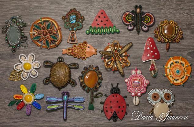 броши, художница, украшения ручной работы, божья коровка, арбуз, стрекоза, цветок, дерево, мухомор