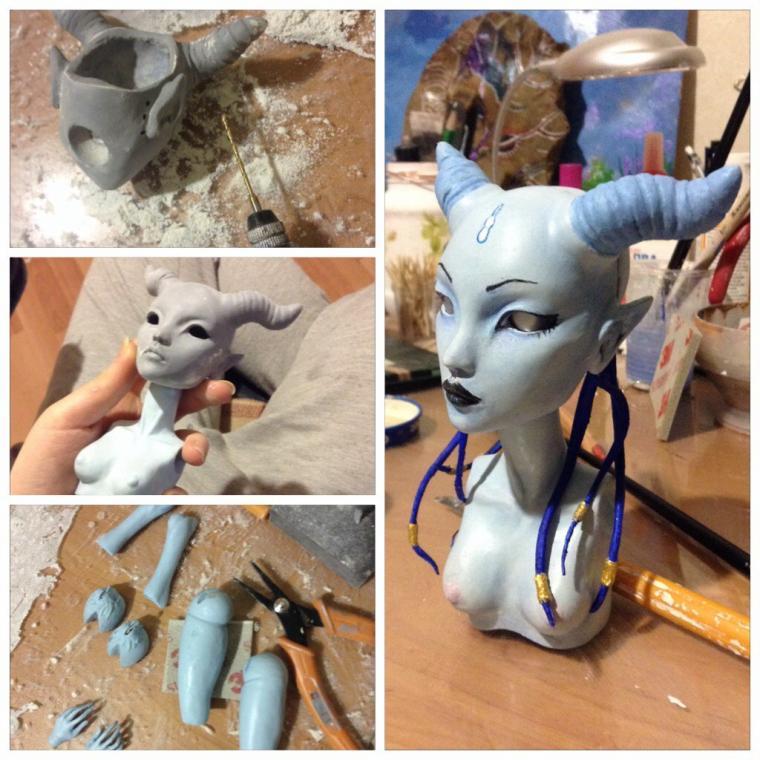 Делаем кукол своими руками пластика