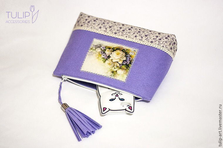 Sewing a Pretty Spring Vanity-Case of Felt and Fabric, фото № 32