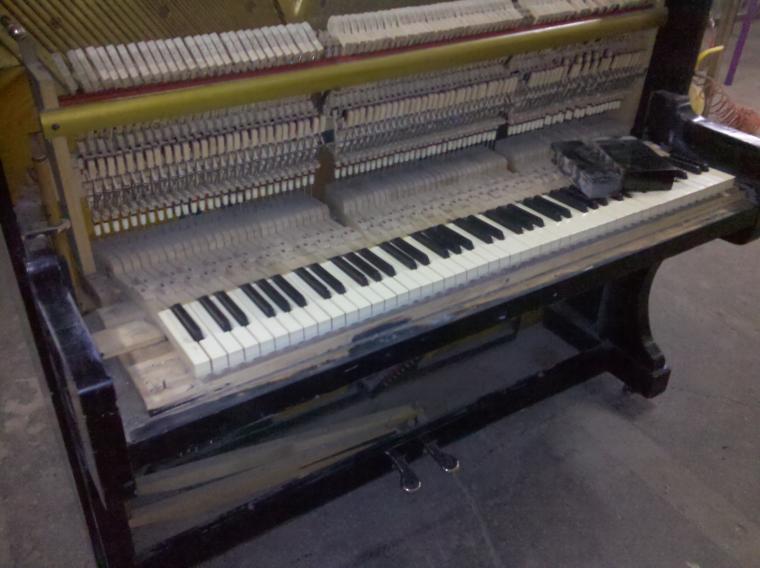 реставрация пианино, патина