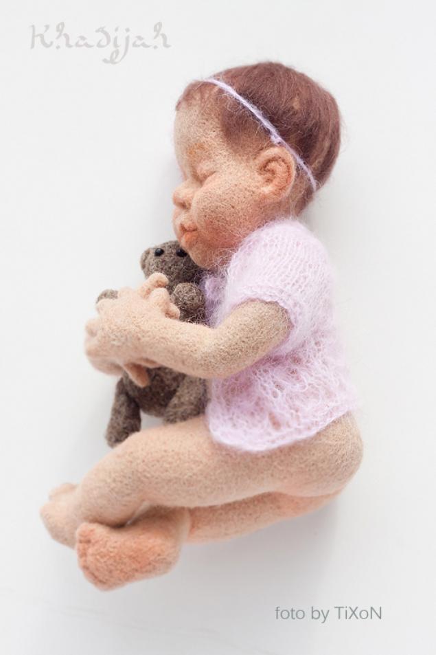куклы-младенцы, сухое валяние, сон