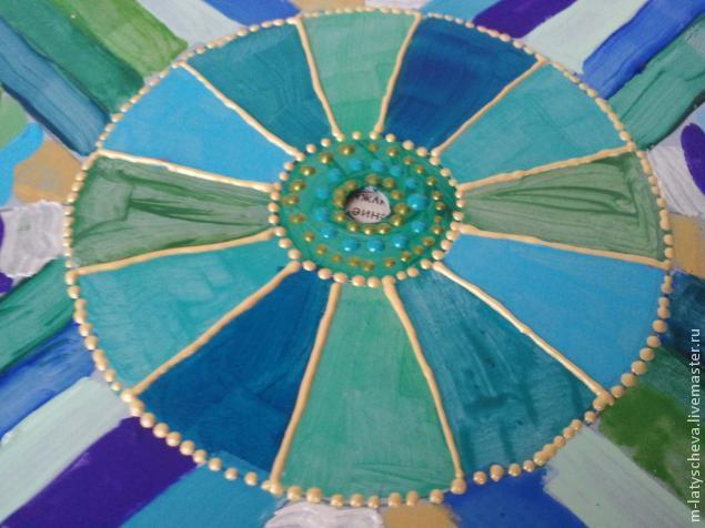Яркие настенные часы (роспись), фото № 13