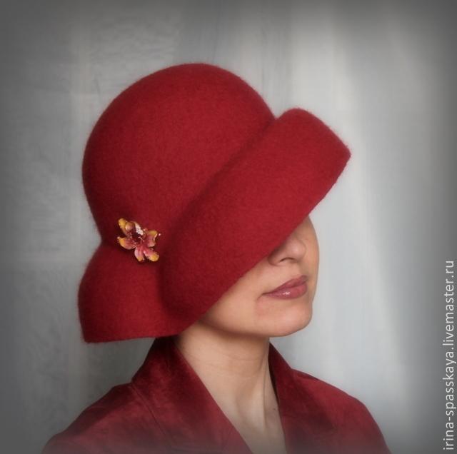 ирина спасская, валяная шляпка
