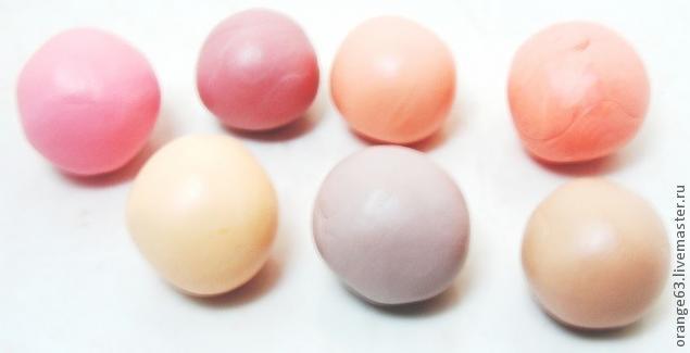 Оттенки оранжевого в технике Мокуме Гане , мастер-класс, мокуме гане, техника, пластика, лепка, полимерная глина, оранжевый