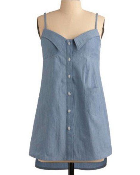 Шьём платье из рубашки
