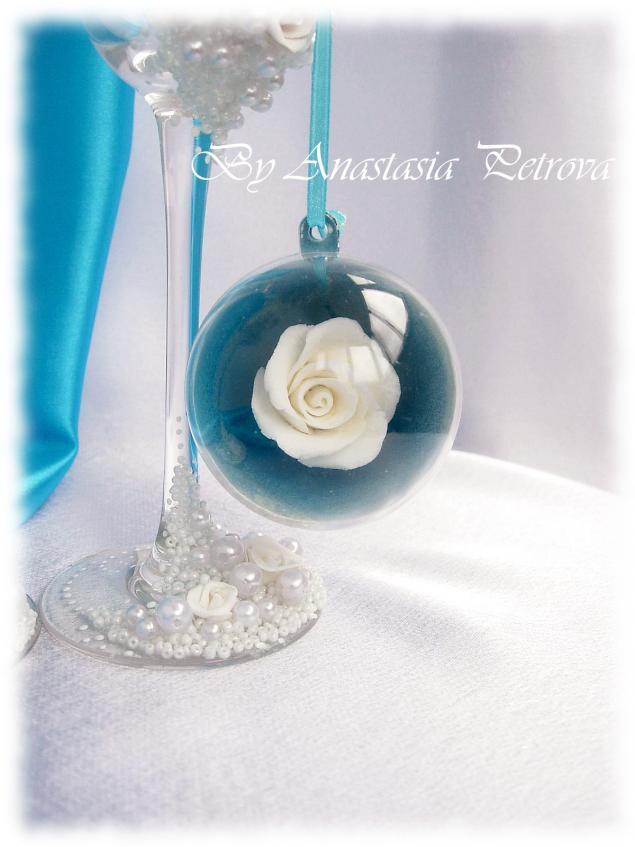 подарок на новый год, шар на елку, новый год 2014, свадьба, свадебные аксессуары, акция, акция к новому году, свадебные бокалы