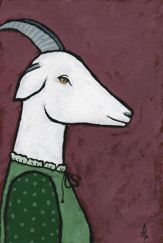 картина каждый день, коза