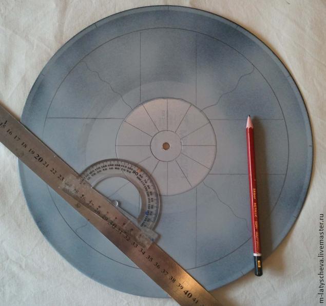 Яркие настенные часы (роспись), фото № 3