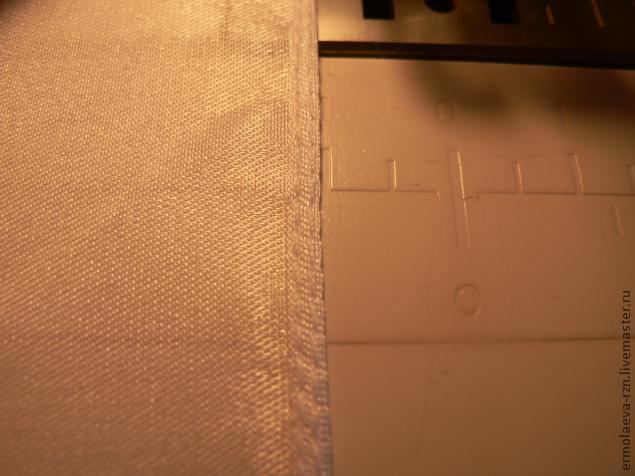 обработка края шарфа