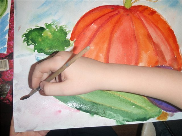Рисуем с детьми «Осенний натюрморт», фото № 4