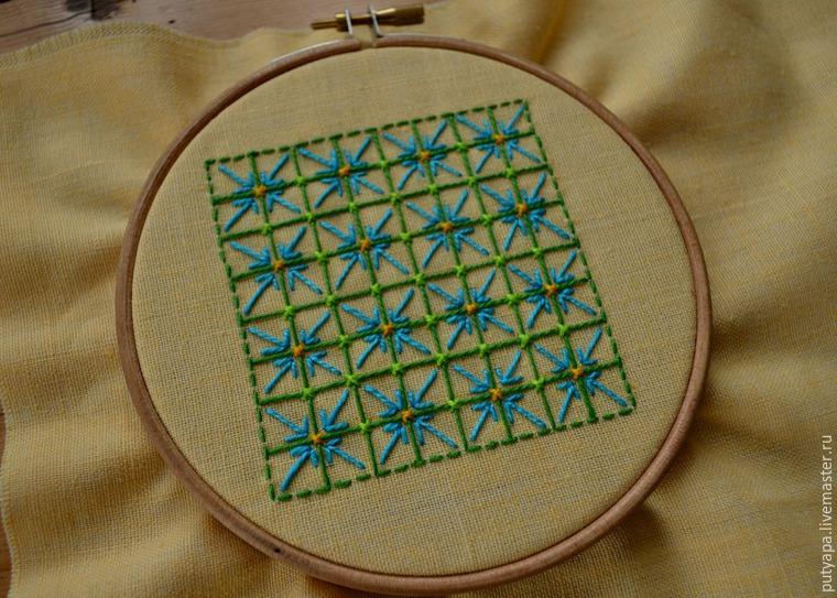 Декоративная сетка вышивка