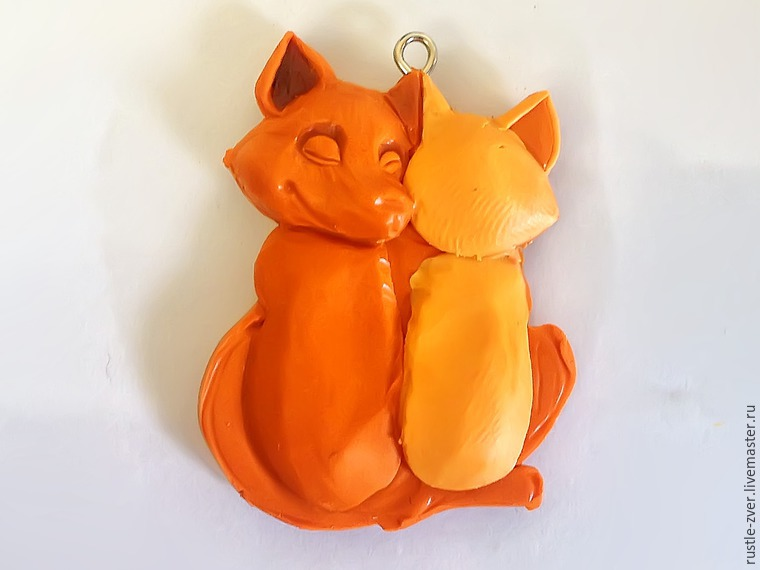 Modeling A Pendant Foxes in Love, фото № 16