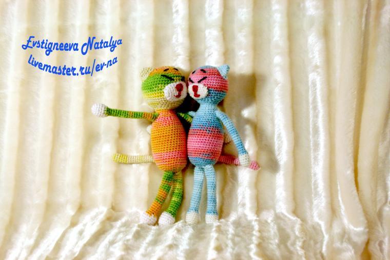 кот, вязание на заказ, подарок, день всех влюбленных