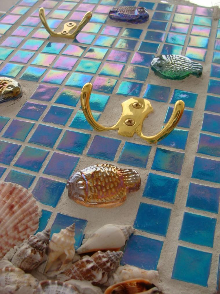 подарок рыбаку, перламутровая мозаика