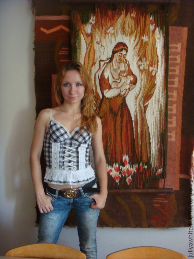 Ручное ткачество Гобелен Авторская дипломная работа  Авторская дипломная работа Материнство мастер Белая Юлия Игоревна
