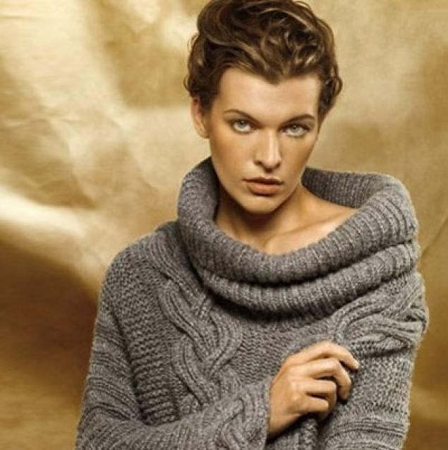 """На нашем женском сайте  """"Дамочка """" Вы в любой момент отыщите новость - вязание спицами свитер крупной вязкой, с..."""