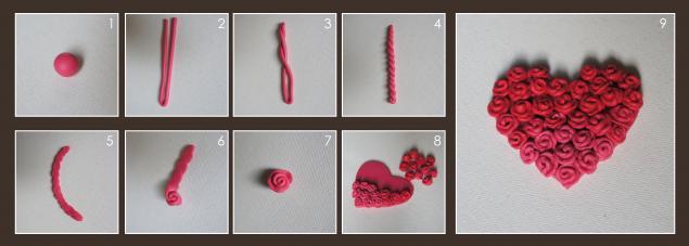 Сердце своим руками из пластилина
