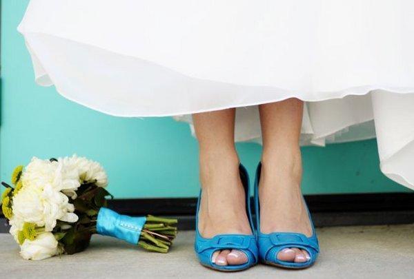 свадьба в бирюзовом, синие цветы