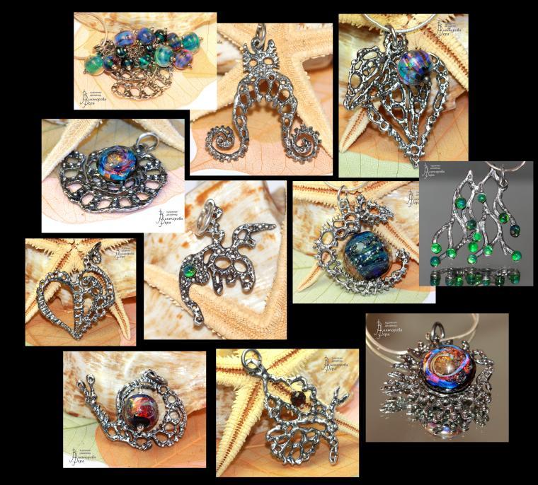 авторские украшения, вера викторова, серебряные серьги, кольца лэмпворк