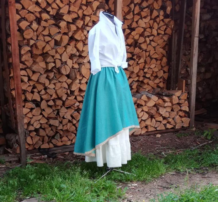 бохо юбка