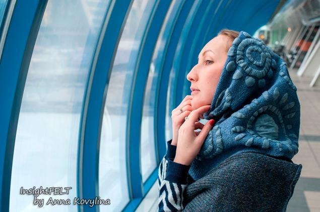 войлок, мини-шарф
