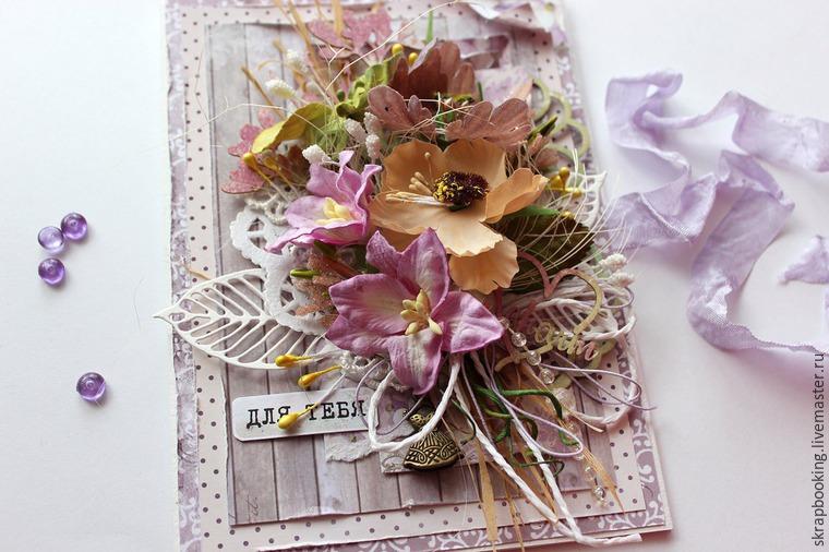 Открытки, скрапбукинг мк открытки с цветами