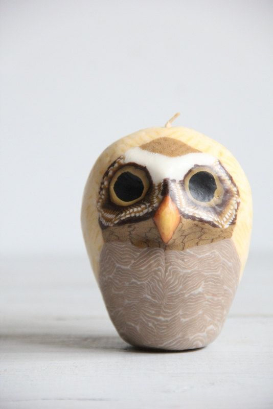 vintage owl candle by wretchedshekels on Etsy,