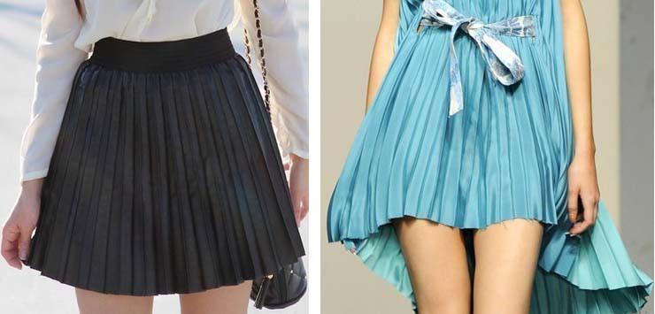 Короткая юбка гофре