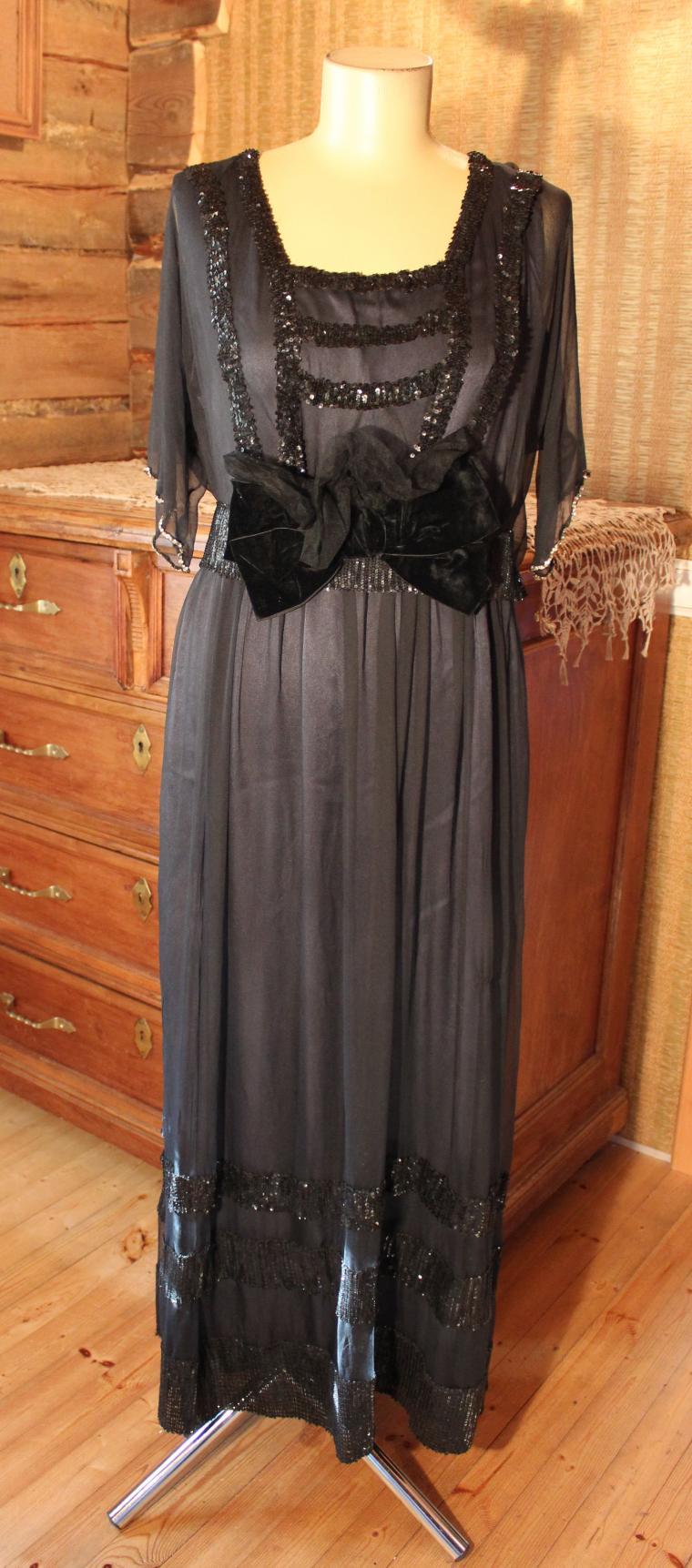 антикварное платье, старинная мода, мода 10-х годов хх века