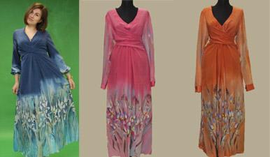 платье, платье батик, шелковое платье