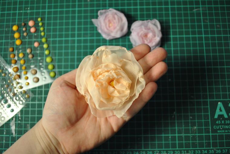 Цветы из вуали своими руками мастер класс