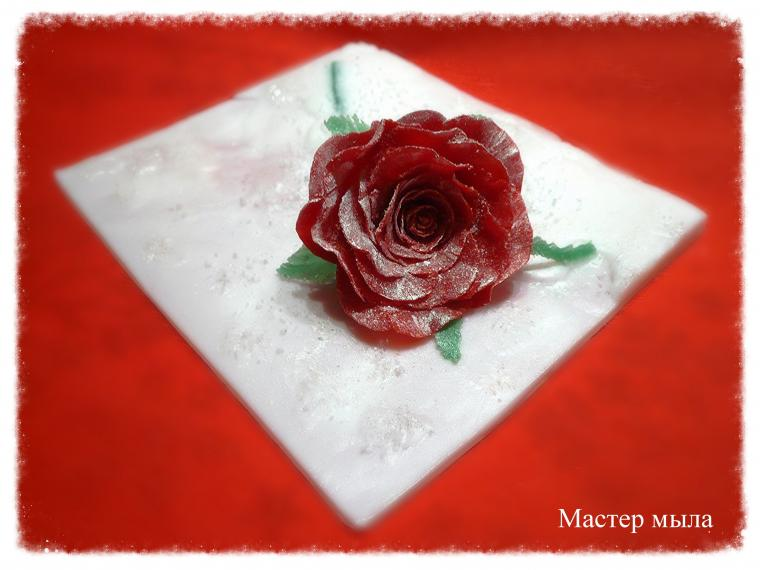 новогодние сувениры, мыльные цветы