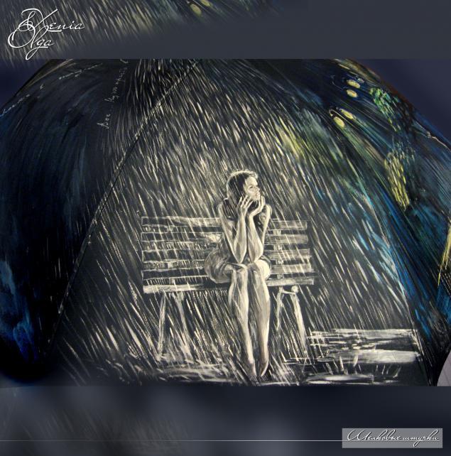 зонты, рисунок на зонте
