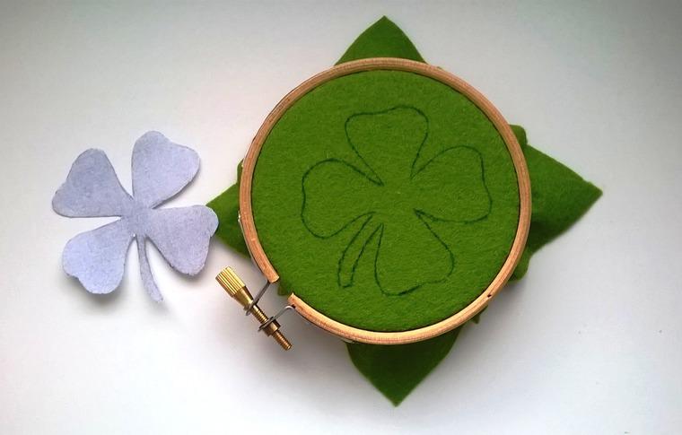 DIY on Creating a Cloverleaf Brooch for Luck, фото № 3