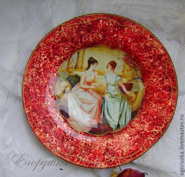 Декупаж стеклянных тарелок мастер-класс