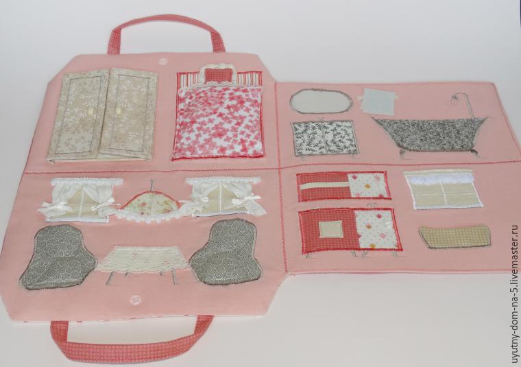 5df7abcda199 Шьем игровую сумочку-домик для девочки – мастер-класс для начинающих ...