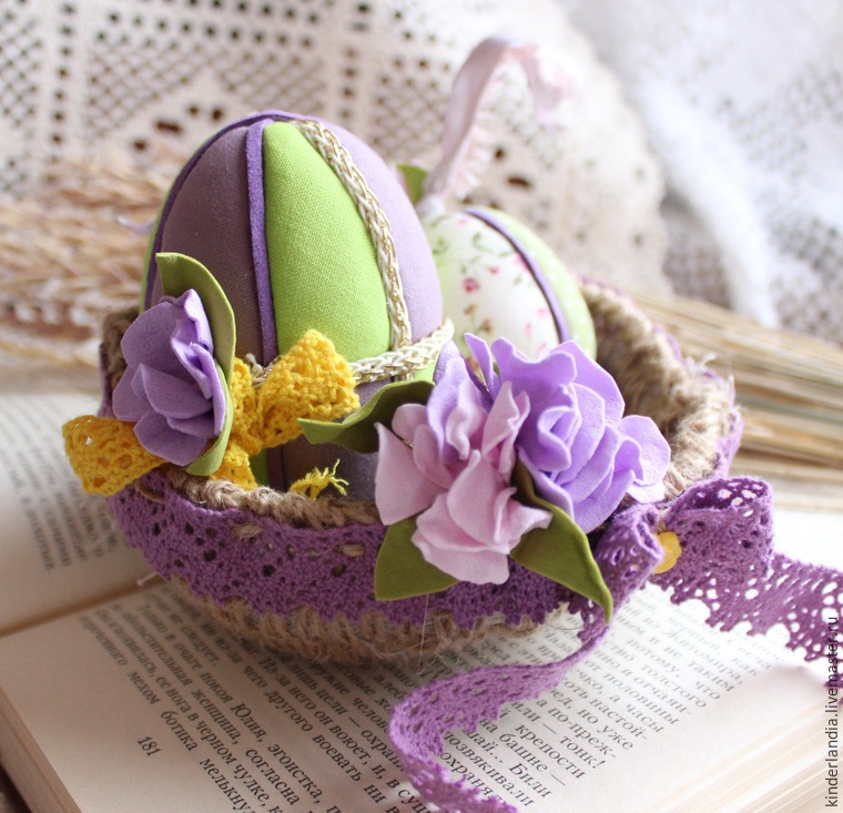 Handmade Easter decorations Handmade Kimekomi Easter Egg Easter ornaments gift for him gift for her
