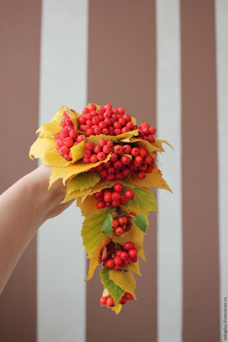 Осенний букет с рябиной своими руками 13