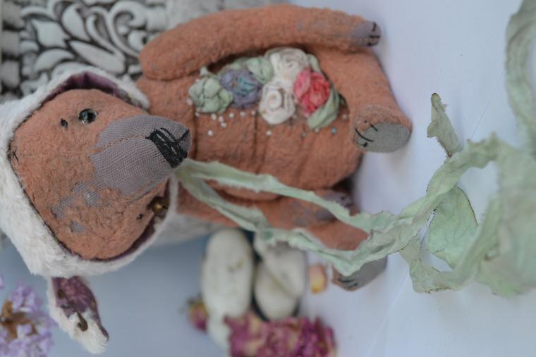 тедди, мишка зайка, шебби-шик ручной работы