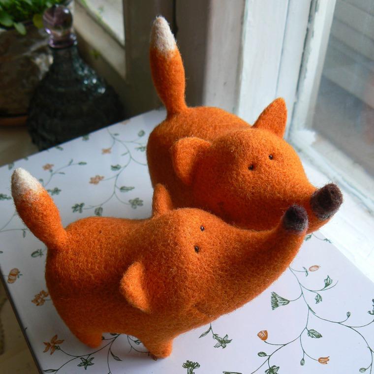 валяние, игрушка, обучение в москве, лис, лисица